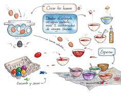 Repasando los verbos: disolver, esperar, escurrir y secar en contexto. -  Cartoon Cooking on Behance