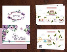 "#wedding #invite #design #love #weddinginvitation #watercolour #illustrator  ""Wedding Invite"" http://be.net/gallery/37800803/Wedding-Invite"