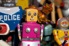 """Their batteries have probably all melted. I'm a bad robot mom,"" says the photographer Mary Ellen Mark, looking with wry affection at the crowd of robots — pink fembots in frilly aprons! Mean metal guys with clock bellies! — that have taken up residence in her downtown loft, a place that has been her studio since almost before SoHo was SoHo."