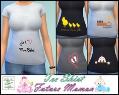 Lot 5 tee shirts future maman Luna Sims