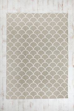 Stamped Scallop Rug, looks like shells and is at a great deal right now for a 8/10!