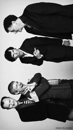 The Great Time of Sherlock: Mark Gatiss, Martin Freeman, Benedict Cumberbatch and Satan. Hum I mean Steven Moffat