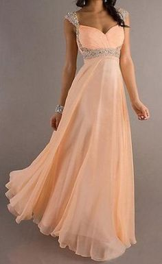 coral prom dress long prom dress cheap prom dress by okbridal, $172.00 by olive