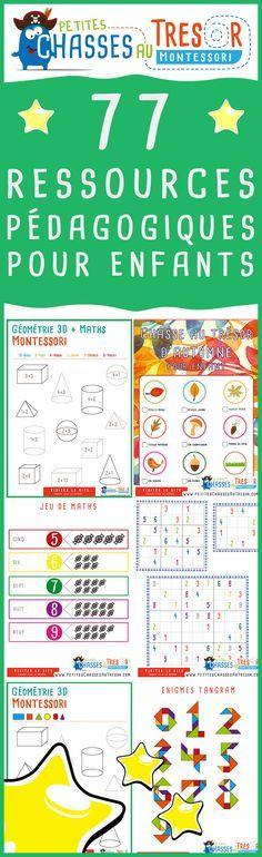 Ressources pédagogique pour apprendre en s'amusant. Des ressources à imprimer pour les enfants et les professeurs. Kits d'activités ludiques gratuit.