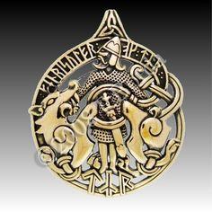 TYR Warrior Pendant Norse God of Justice Rune Fenris Wolf Dryad Design Bronze | eBay