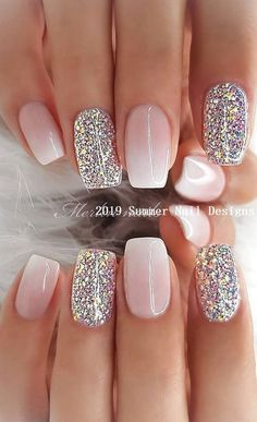 29 awesome and cute summer nails design ideas and pictures for 2019 - page 6 of . - 29 Awesome and Cute Summer Nails Design Ideas and Pictures for 2019 – Page 6 of 28 – ROn – Ne - Chic Nail Designs, Cute Summer Nail Designs, Cute Summer Nails, Winter Nail Designs, Summer Design, Nail Ideas For Winter, Designs For Nails, Summer Holiday Nails, New Years Nail Designs