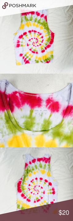 Dyes by MacKay tie-dye shirt Dyes by MacKay tie-dye tank top. This comfy UNIQUE AND ONE OF A KIND tank top is perfect for summer! This vintage inspired piece will double as your favorite top, cover up, or pj's - whatever you need! Bundle and save or make me an offer xx Dyes by MacKay Shirts Tank Tops