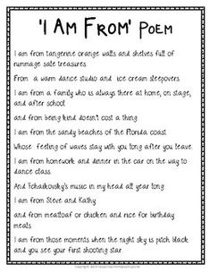 I Am Poem - I Am From Poem: Includes Templates, Example Poem & Grading Rubric Poetry Unit, Writing Poetry, My Poetry, Meditation Scripts, Guided Meditation, Teaching Poetry, Teaching Writing, Poems For 5th Graders, I Am Poem Examples
