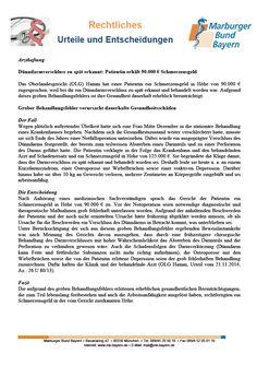 #Arzthaftung: Dünndarmverschluss zu spät erkannt: Patientin erhält 90.000 € Schmerzensgeld (OLG Hamm, Urteil vom 21.11.2014, Az.: 26 U 80/13)