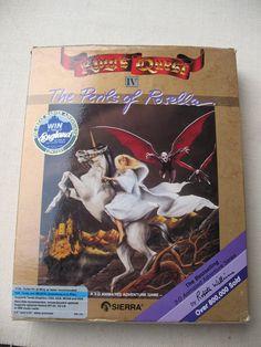 KING'S QUEST IV PC DOS Game Big Box Rosella 3.5/5.25 disks Sierra 1990 Hint Book #Sierra
