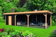 When old inside notion, the particular pergola may be encountering a contemporary rebirth these Backyard Storage Sheds, Backyard Sheds, Backyard Landscaping, Backyard Pavilion, Backyard Bar, Bbq Shed, Wooden Gazebo, Gazebo Plans, Outdoor Shelters