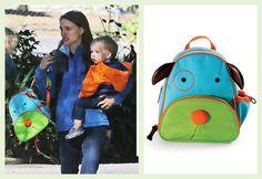 Natalie Portman chooses the Skip Hop Dog Backpack!
