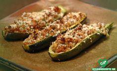Gefüllte Zucchini mit feurigem Hackfleisch, low carb Diät rezept