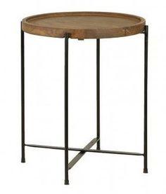 Sivupöytä, pikkupöytä, pikkupöytä puuta ja metallia, Salitre | huonekalutukku.fi