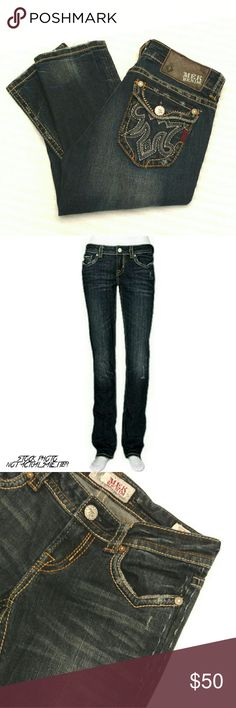 MEK Denim Astoria Cigarette/Skinny Jeans MEK Denim Astoria Cigarette/Skinny Jeans.  Engineered for durability and lavished with a recognizable style, stretch denim with contrasting topstitched detail.  Skinny fit, cigarette leg.  Five-pocket style; embroidered back pockets.  Zip/button fly; belt loops.  Have been worn and washed a few times.  One bottom side detail stich loose (pic 3).  Intentionally lightly distressed by MEK. Bottom hem has additional light distressing.  See pics…