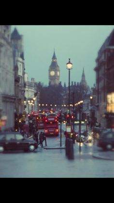 rainy london night.