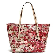 Women's Top-Handle Handbags - GUESS Delaney MixedMetallic Small Classic Tote *** See this great product.