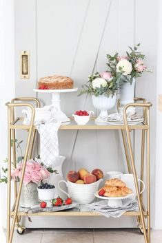 """Fantastic """"bar cart decor inspiration"""" detail is readily available on our site. Take a look and you will not be sorry you did. Bar Cart Decor, Bar Cart Styling, Dyi, Outside Bars, Gold Bar Cart, Home Modern, Rooms For Rent, Bar Furniture, Plywood Furniture"""