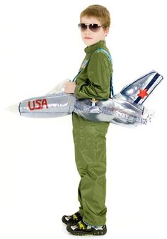 With ticket prices being so expensive these days, how about cutting back and being your own pilot! With this Ride in an Airplane Costume, your child can fly off wherever he wants to go!
