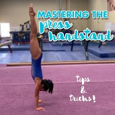 The press handstand is a root skill in the gymnastics world and can be tricky to master. We've compiled a list of a few exercises that can be done with minimal equipment to help you master your press handstand! Gymnastics Handstand, Gymnastics Grips, Gymnastics Stretches, Gymnastics Skills, Gymnastics Training, Gymnastics Videos, Gymnastics Workout, Gymnastics Clothes, Acrobatic Gymnastics