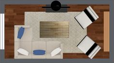 Four Furniture Layout Floor Plans for Your Small Apartment Living Room » ForRent.com : Apartment Living Blog