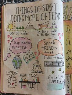 Bullet journal idea for things to start doing more often!