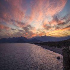 Antalya'da gün batıyor...