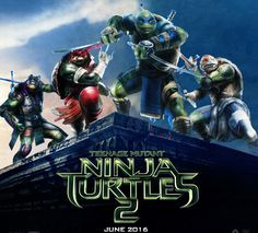 Ninja Turtles 2 is set to start shooting this April in New York. I need this. It's coming in 2016! That's what they're saying!
