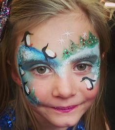 Penguins playing by Catrina Pentland.  #facepaint