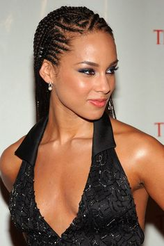 cornrows with individual braids in the back | Love is in the Hair: Hair Trends Then and Now