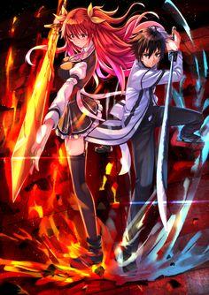 Rakudai Kishi no Cavalry, Stella Vermillion, Kurogane Ikki, Fire
