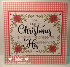 Using 'Poinsettia' from Imagine That Digistamp