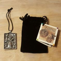 SIGNED GEORGE CARRUTH ~ PEWTER SAINT FRANCIS ORNAMENT Pendant ~ with Tags #Carruth #Christmas #Ornament #Pewter #Saint #Francis