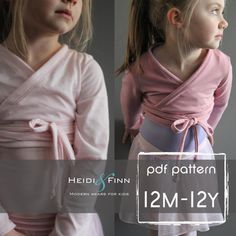 Ballet Sweater pattern and tutorial 12m  12y PDF by heidiandfinn, $10.95