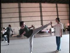 WHY DO WE LOVE KEANU? Because he's got a pretty darn good side kick. (Roll the left hip over a little more & drop your torso and you'll have it!) (chicfoo) keanu