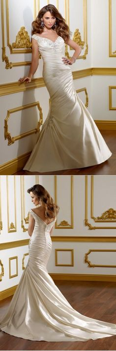 Economical Backless Wedding Gowns Wedding Halter Top Reception Dresses Trumpet…