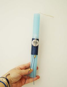 Blue Easter candle for men Greek Easter by AkatosCollectibles, $11.50