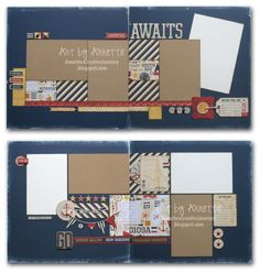layouts by Annette Green using CTMH Tommy paper