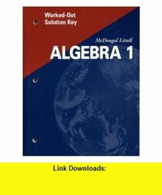 Worked-Out Solution Key Algebra 1 (9780618020522) Ron Larson, Laurie Boswell , ISBN-10: 0618020527  , ISBN-13: 978-0618020522 ,  , tutorials , pdf , ebook , torrent , downloads , rapidshare , filesonic , hotfile , megaupload , fileserve
