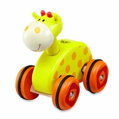 The adorable Wonderworld Wheely Giraffe is a cute wooden vehicle that is sure to create smiles with its bright colors, cheerful face, and always ready-to-go attitude. Toddler Toys, Baby Toys, Kids Toys, Baby Nursery Furniture, Nursery Room Decor, Baby's First Easter Basket, Giraffe Toy, Giraffe Nursery, Eco Friendly Toys