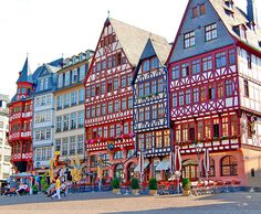 Historic houses in Frankfurt Germany-when I was there, I was too little to appreciate it all...wish I could go back