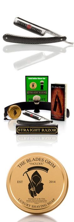 Man Up with this Complete Straight Razor Shaving Set. With a closer shave and better value in the long run this Straight Razor Shaving Set will have your man shave ready right out of the box. #shavingstraightrazor #straightrazorshavingkit