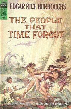 The People that Time Forgot - Edgar Rice Burroughs, cover by Roy Krenkel