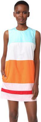 Shop Now - >  https://api.shopstyle.com/action/apiVisitRetailer?id=633061937&pid=uid6996-25233114-59 MDS Stripes Colorblock Shift Dress  ...