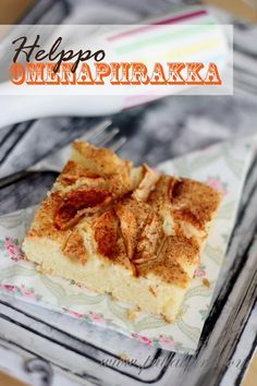 Yhden kulhon marjapiirakka (pellillinen) / One bowl berry bars Finnish Recipes, Sweet Pastries, Sweet Pie, Tart, Food To Make, Deserts, Food And Drink, Yummy Food, Delicious Recipes