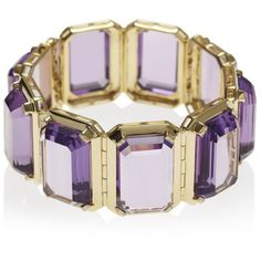 Women's Yellow Gold Bracelets by Anakao PARADIGM Yellow Gold Amethyst... (41,465 CAD) ❤ liked on Polyvore featuring jewelry, bracelets, purple, gold jewellery, amethyst jewelry, cuff bracelet, cuff bangle and gold cuff bangle