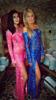 lace dress, carolina dudrova, pink dress, blue dress, prom dress,lace,evening dress,bridesmaid dress