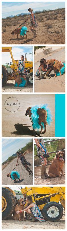 'A girl and her dog' | Senior Girl | Phoenix AZ Rusty Gate Photography | senior girl senior #dog senior session senior session with dog country session phoenix desert | dress from @Apricot Lane Boutique Peoria/Normal/Nashville