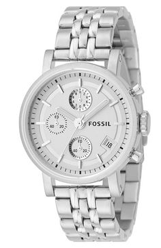 Free shipping and returns on Fossil 'Original Boyfriend' Chronograph Bracelet Watch, 38mm at Nordstrom.com. A high-polished bracelet watch in a menswear-inspired silhouette makes a chic, on-trend accessory.
