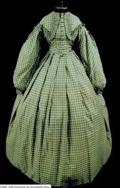 9318c3c107 1800s Clothing, Historical Clothing, Vintage Clothing, Pioneer Dress, Old  Dresses, Cotton